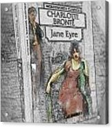 Jane Eyre Book Abstract Acrylic Print by Nik Helbig
