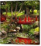 Japanese Garden - Meditation Acrylic Print by Mike Savad
