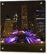 Jay Pritzker Pavilion Chicago Acrylic Print by Adam Romanowicz