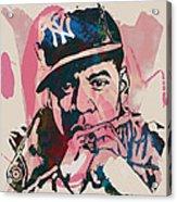 Jay-z Stylised Etching Pop Art Poster Acrylic Print by Kim Wang