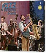 jazz festival in Paris Acrylic Print by Guido Borelli