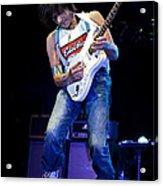 Jeff Beck On Guitar 1 Acrylic Print by Jennifer Rondinelli Reilly - Fine Art Photography