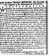 Jefferson: Embargo, 1779 Acrylic Print by Granger