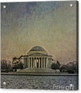 Jefferson Memorial At Dusk Acrylic Print by Terry Rowe