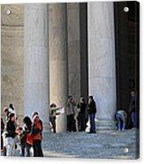 Jefferson Memorial - Washington Dc - 01132 Acrylic Print by DC Photographer