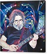 Jerry Garcia And Lights Acrylic Print by Joshua Morton