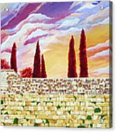 Jerusalem Prayers Acrylic Print by Dawnstarstudios