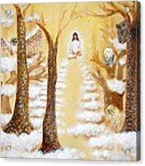 Jesus Art - The Christ Childs Asleep Acrylic Print by Ashleigh Dyan Bayer