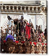 Jesus Christ And Roman Soldiers On Procession Acrylic Print by Artur Bogacki
