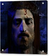 Jesus In Death Acrylic Print by Ray Downing