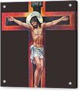 Jesus On The Cross Acrylic Print by Zorina Baldescu