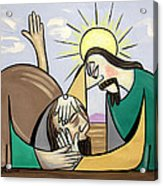 Jesus Will Meet You Where You Are Acrylic Print by Anthony Falbo