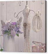 Jewellery And Pearls Acrylic Print by Amanda And Christopher Elwell