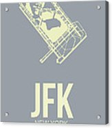 Jfk Airport Poster 1 Acrylic Print by Naxart Studio