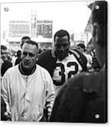 Jim Brown The Great Leaving The Field Acrylic Print by Retro Images Archive