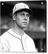 Jimmie Foxx Looking Away Acrylic Print by Retro Images Archive
