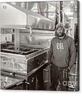 Jimmy At Mt Cube Sugar Farm Acrylic Print by Edward Fielding