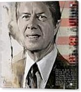 Jimmy Carter Acrylic Print by Corporate Art Task Force