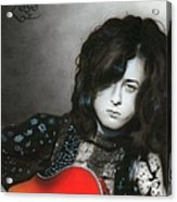 'jimmy Page' Acrylic Print by Christian Chapman Art