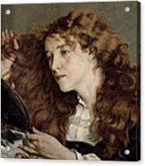 Jo The Beautiful Irish Girl Acrylic Print by Gustave Courbet
