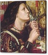 Joan Of Arc Kisses The Sword Of Liberation Acrylic Print by Philip Ralley