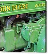 John Deere Diesel Acrylic Print by Susan Candelario
