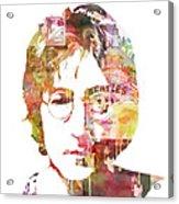 John Lennon Acrylic Print by Mike Maher