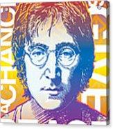 John Lennon Pop Art Acrylic Print by Jim Zahniser