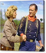 John Wayne In The Horse Soldiers Acrylic Print by Silver Screen