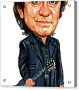 Johnny Cash Acrylic Print by Art