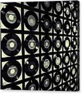 Johnny Cash Vinyl Records Acrylic Print by Dan Sproul