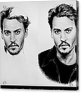 Johnny Depp 4 Acrylic Print by Andrew Read