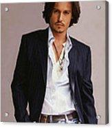 Johnny Depp Acrylic Print by Dominique Amendola