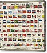 Johnsons New Chart Of National Emblems Acrylic Print by Georgia Fowler