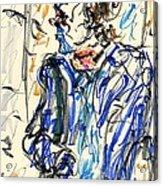 Joker - Bozo Acrylic Print by Rachel Scott