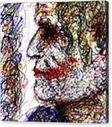 Joker - Profile Acrylic Print by Rachel Scott