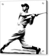 Joltin Joe Dimaggio  Joe Dimaggio Acrylic Print by Iconic Images Art Gallery David Pucciarelli