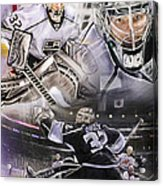 Jonathan Quick Collage Acrylic Print by Mike Oulton