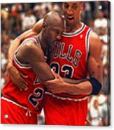 Jordan And Pippen Acrylic Print by Paint Splat