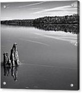 Jordan Lake Reflections II Acrylic Print by Ben Shields