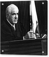 Joseph A. Wapner In The People's Court  Acrylic Print by Silver Screen