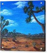 Joshua Tree Desert Acrylic Print by Anastasiya Malakhova