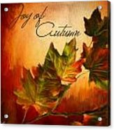 Joy Of Autumn Acrylic Print by Lourry Legarde