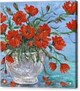 Jubilee Poppies Acrylic Print by Catherine Howard