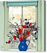 Jug Of Flowers Acrylic Print by Tom Gowanlock
