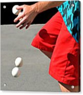 Juggler Acrylic Print by Diana Angstadt