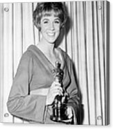 Julie Andrews, With Her Best Actress Acrylic Print by Everett