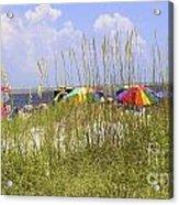 July 4th On The Beach Acrylic Print by William Bosley