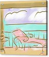 Jupiter Balcony Acrylic Print by Jean Pacheco Ravinski
