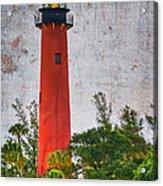 Jupiter Lighthouse Acrylic Print by Debra and Dave Vanderlaan
